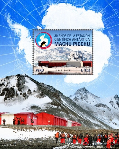 [The 30th Anniversary (2019) of the  Machu Picchu Antarctic Research Station, type ]