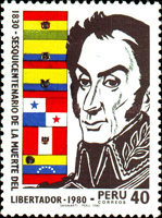 [The 150th Anniversary of the Death of Simon Bolivar, 1783-1830, Typ ABQ]