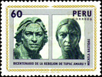 [The 200th Anniversary of Revolution of Tupac Amaru and Micaela Bastidas, type ABW]