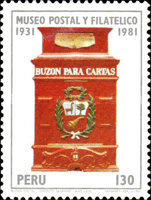 [The 50th Anniversary of Postal and Philatelic Museum, Lima, type ABX]