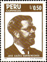 [The 100th Anniversary of the Birth of Jose Galvez Barrenechea, Poet, 1885-1957, Typ AGJ]