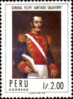 [The 150th Anniversary of the Death of General Felipe Santiago Salaverry, President, 1806-1836, Typ AGR]