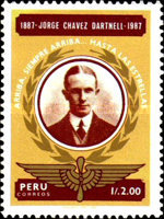 [The 100th Anniversary of the Birth of Jorge Chavez Dartnell, Aviator, 1887-1910, Typ AHC]