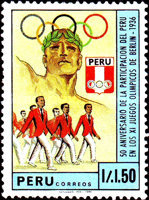 [The 50th Anniversary of First Peruvian Participation in Olympic Games at Berlin, 1986, Typ AHG]