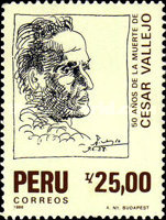 [The 50th Anniversary of the Death of Cesar Vallejo, Poet, 1892-1938, Typ AHP]