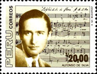 [The 50th Anniversary of the Death of Alfonso de Silva, Composer, 1902-1937, Typ AHV]