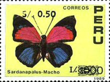 [Various Stamps Surcharged, type AJD1]