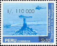 [Peruvian Navy - Unissued Stamps Surcharged, type AJQ]