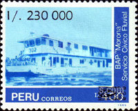[Peruvian Navy - Unissued Stamps Surcharged, type AJR]
