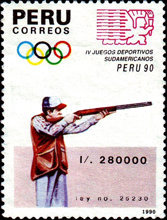 [The 4th South American Games, type AJT]