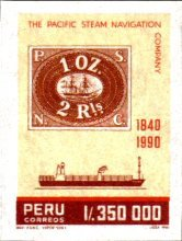 [The 150th Anniversary of Pacific Steam Navigation Company, type AJX]