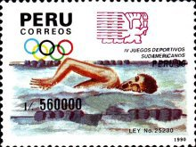 [The 4th South American Games, type AJZ]