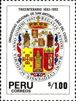 [The 300th Anniversary of National University of Saint Anthony Abad del Cusco, type AKJ]