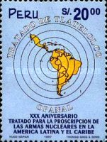 [The 30th Anniversary of Treaty of Tlatelolco, Banning Nuclear Weapons in Latin America and the Caribbean, Typ AQB]