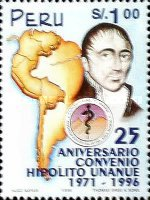 [The 25th Anniversary of Hipolito Unanue Agreement, Health Co-operation in Andes Region, 1996, Typ AQE]