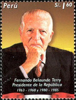 [The 1st Anniversary of the Death of Fernando Belaunde Terry, President, 1912-2002, Typ AXX]