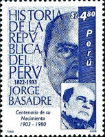 [The 100th Anniversary of the Birth of Jorge Basadre Grohmann, Writer, 1903-1980, Typ AZK]