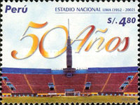 [The 50th Anniversary of National Stadium, Lima, Typ AZT]