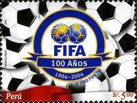 [The 100th Anniversary of FIFA, Federation Internationale de Football Association, Typ BCE]