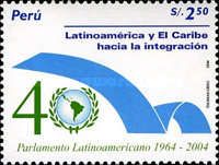 [The 40th Anniversary of Latin American Parliament, Typ BCO]