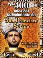 [The 400th Anniversary of the Birth of St. Francisco Solano, type BVB]