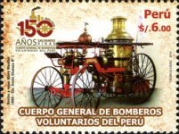 [The 150th Anniversary of the Volunteer Firemen in Peru, type BWB]