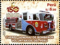 [The 150th Anniversary of the Volunteer Firemen in Peru, type BWC]