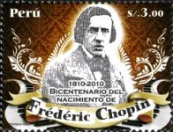 [The 200th Anniversary of the Birth of Frederic Chopin, 1810-1849, type BWK]