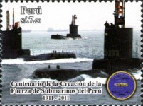 [The 100th Anniversary of the Submarine Forces of Peru, type BXH]