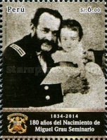 [The 180th Anniversary of the Birth of Miguel Grau, 1834-1879, type CDO]