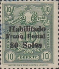"""[Various Stamps Overprinted """"Habilitado Franq. Postal"""" and Surcharged, Typ CF5]"""