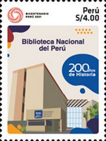[The 200th Anniversary of the National Library of Peru, Typ CMZ]
