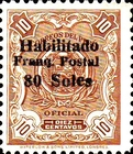 "[Various Stamps Overprinted ""Habilitado Franq. Postal"" and Surcharged, type DJ3]"
