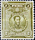 [The 100th Anniversary of Battle of Ayacucho - Portraits of Simon Bolivar, type EC]