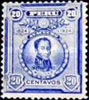[The 100th Anniversary of Battle of Ayacucho - Portraits of Simon Bolivar, type EC2]