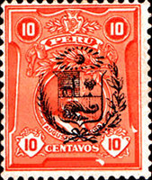 [Fall of Leguia Government - Issue of 1924 Overprinted with Arms of Peru or Surcharged with New Value in Four Corners also, Typ EI4]