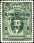 """[Surcharged """"Habilitada Franqueo 2 Cts. 1930"""", type EP1]"""