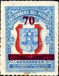 """[Various Stamps Overprinted """"Habilitado Franq. Postal"""" and Surcharged, Typ EQ12]"""