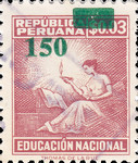"""[Various Stamps Overprinted """"Habilitado Franq. Postal"""" and Surcharged, Typ EQ15]"""