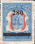 """[Various Stamps Overprinted """"Habilitado Franq. Postal"""" and Surcharged, Typ EQ18]"""