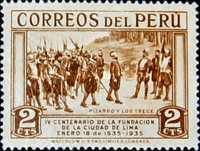 [The 400th Anniversary of Founding of Lima, Typ FR]