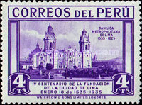 [The 400th Anniversary of Founding of Lima, Typ FS]