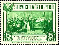 [Airmail - The 400th Anniversary of Founding of Lima, Typ FW]
