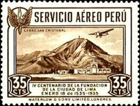 [Airmail - The 400th Anniversary of Founding of Lima, Typ FX]