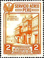 [Airmail - The 400th Anniversary of Founding of Lima, Typ FZ]