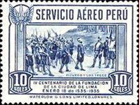 [Airmail - The 400th Anniversary of Founding of Lima, Typ GA]