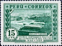 [The 100th Anniversary of Political Independence of Callao Province, Previously Ciudad de los Rios, type GL]