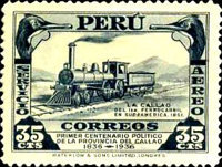 [The 100th Anniversary of Political Independence of Callao Province, Previously Ciudad de los Rios, type GS]