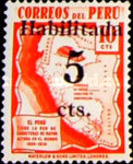 """[Issue of 1938 Overprinted and Surcharged """"Habilitada 5 cts"""", type HX1]"""