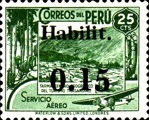 """[Airmail - Issue of 1938 Overprinted and Surcharged """"Habilit 0.15"""", type II1]"""